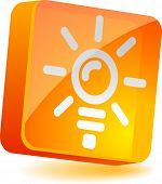 Idea 3d icon. Vector illustration.