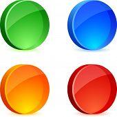 Brillantes 3d icons. Ilustración del vector.