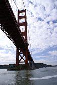 Golden Gate Bridge From The Bay.