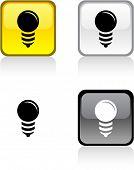 Botones cuadrado vibrantes brillantes del bulbo.