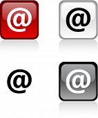 Arroba glossy square vibrant buttons.