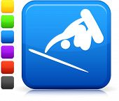Extreme Skateboarding icon on square internet button  Six color options included.