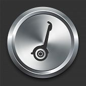 Segway Icon on Metal Internet Button Original Vector Illustration