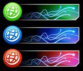 Globus-Symbol auf Tcl/Tk farbigen Schaltfläche festlegen-Original illustration
