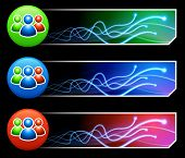 Benutzer Gruppe Symbolsatz auf Tcl/Tk farbigen Schaltfläche-Original illustration