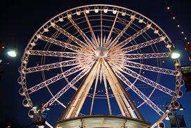 pic of ferris-wheel  - A Night shot of a fairs wheel taken at Niagara Falls Canada - JPG