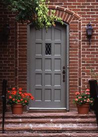 pic of front door  - The front door to a brick house - JPG