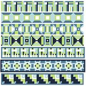 Green and blue trim or border collection