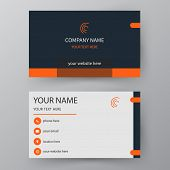 Vector Business Card. Visiting Card For Business And Personal Use. Modern Presentation Card. Vector poster