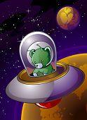 Flying Saucer Alien Bear