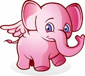 Flying Pink Elephant