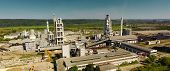 Panorama Of The Cement Plant. Large Cement Plant. The Production Of Cement On An Industrial Scale In poster