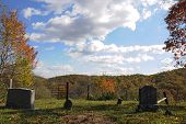 West Virginia Cemetery in Autumn