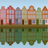 Huizen aan de Amsterdamse gracht