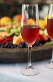 pic of crudites  - Wine served with a mixed fruit and cheese platter