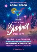 Summer Night Party Poster Template poster