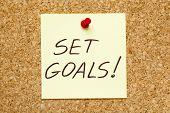 Set Goals! On Cork Board