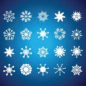Collection of vector snowflakes