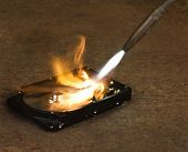 Burning A Hard Disk Drive