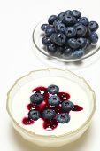 Blueberry with yogurt