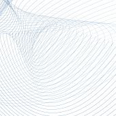 Vector Technic Background, Curved Intersecting Blue, Gray Lines On White. Abstract Vortex Imitation. poster