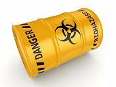 3D Rendering Biohazard Barrel poster