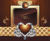 Silk  background with heart