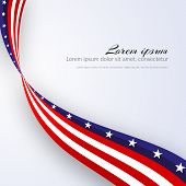 American Flag Vector Background For Independence Day And Other Events Patriotic Background With Star poster