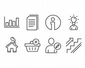 Set Of Edit User, Delete Purchase And Education Icons. Copy Files, Report Diagram And Stairs Signs.  poster
