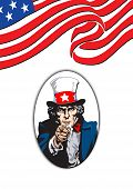 foto of uncle  - Uncle Sam in the classic I Want You pose - JPG