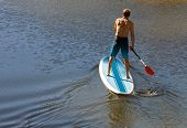 Man On A Paddle Board