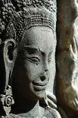 image of asura  - Close up of sulptured apsara Siem Reap Cambodia