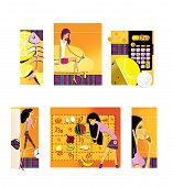 A Set Of 6 Illustrations On The Theme Of Diet And Weight Loss. Lemon And The Skeleton Of The Fish. A poster