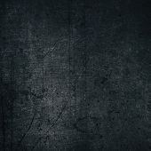 Black Color Painted Metal Texture. Aged Dark Gray Scratched Shabby Metallic Surface. Retro Grunge Ba poster