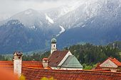 Beautiful Roofs Of Houses In Fussen, Bavaria, Germany