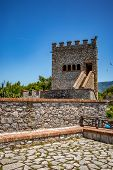 The Tower. Beautiful Warm Spring Day And Archeological Ruins At Butrint National Park, Albania, Unes poster