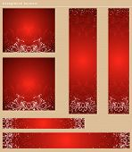 Red Christmas Banners, Vector