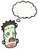 image of frankenstein  - cartoon frankenstein monster head - JPG