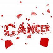 Cancer breakthrough, word crashed and broken