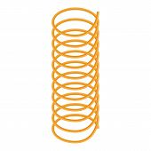 Curve Coil Icon. Isometric Of Curve Coil Vector Icon For Web Design Isolated On White Background poster