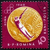 Postage stamp Romania 1961 Sharpshooting, Olympic sports, Rome 6