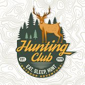 Hunting Club. Eat, Sleep, Hunt. Vector Illustration. Concept For Shirt, Label, Patch, Stamp, Badge,  poster