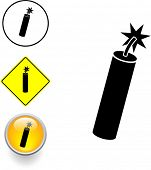 dynamite symbol sign and button