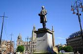 Statue of Robert Peel in George square, at the center of Glasgow, Scotland, UK