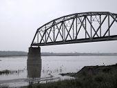Ruin Of An Iron Railway Bridge