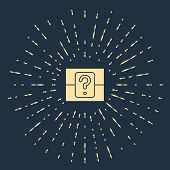 Beige Mystery Box Or Random Loot Box For Games Icon Isolated On Blue Background. Question Box. Abstr poster