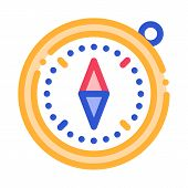 Compass Alpinism Course Detector Tool Vector Icon Thin Line. Mountain Direction And Burner Extreme M poster