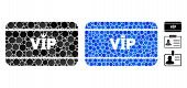 Vip Access Card Composition Of Spheric Dots In Variable Sizes And Shades, Based On Vip Access Card I poster