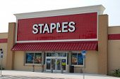 JACKSONVILLE, FLORIDA - APRIL 8: A Staples retail store on April 8, 2012 in Jacksonville, Florida. S