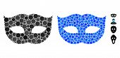 Privacy Mask Composition Of Round Dots In Various Sizes And Color Tinges, Based On Privacy Mask Icon poster